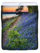 Flower Mound Duvet Cover