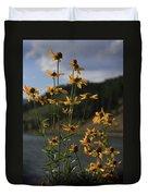 Flower Mountain View Duvet Cover