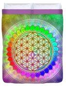 Flower Of Live - Rainbow Lotus 2 Duvet Cover
