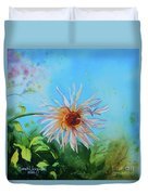 Flower Of Love  Duvet Cover