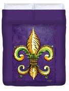 Flower Of New Orleans Lsu Duvet Cover
