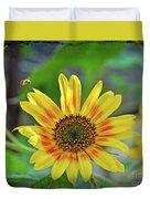 Flower Of The Sun Duvet Cover