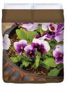 Flower - Pansy - Purple Pansies Duvet Cover