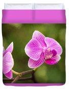 Flower - Pink Orchids Duvet Cover