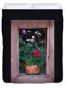 Flower Pot In Window Duvet Cover