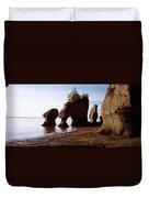 Flower Pot Rocks On The Beach, Hopewell Duvet Cover