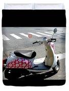 Flower Power For A Montreal Motor Scooter Duvet Cover