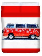 Flower Power Van Duvet Cover