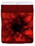 Flower  Red Shade Duvet Cover