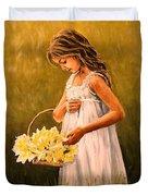 Flower S Basket Duvet Cover