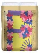 Flower Scene Duvet Cover