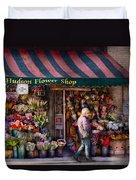 Flower Shop - Ny - Chelsea - Hudson Flower Shop  Duvet Cover