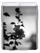 Flower Silhouette Duvet Cover