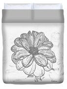 Flower Sketch Duvet Cover