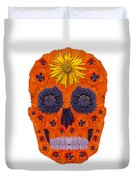 Flower Skull 1 Duvet Cover