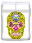 Flower Skull 3 Duvet Cover