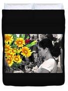 Flower Stall Duvet Cover