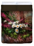 Flower - Still - Seat Reserved Duvet Cover by Mike Savad