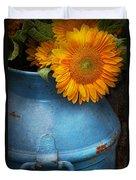 Flower - Sunflower - Little Blue Sunshine  Duvet Cover