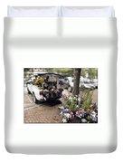 Flower Truck On Nantucket Duvet Cover