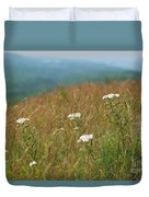 Flower View Of Mountains Duvet Cover