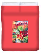 Flower Wagon Duvet Cover