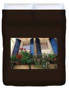Flower Window In Charleston Sc Duvet Cover