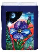 Flower With Eye. Plant From Space Duvet Cover