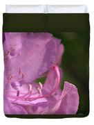 Flower With Pistil And Stamens Displayed Duvet Cover