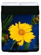 Flower Yellow Duvet Cover