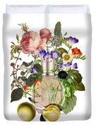 Flowerbomb Notes - By Diana Van Duvet Cover