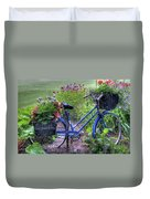 Flowered Bicycle Duvet Cover