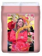 Flowered Raven Redfox Duvet Cover