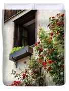 Flowered Window Duvet Cover