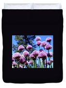 Flowering Chives Duvet Cover