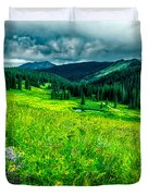 Flowering Colorado Mountain Meadow Duvet Cover