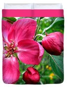 Flowering Crab Apple Duvet Cover