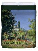 Flowering Garden At Sainte-adresse Duvet Cover