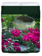 Flowering Landscape Duvet Cover