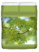 Flowering Maple Tree Duvet Cover
