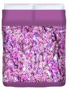 Flowering Plum Blossoms. Duvet Cover