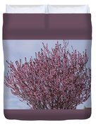 Flowering Plum In Bloom Duvet Cover