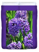 Flowering Purple Hyacinthus Flower Bulb Blooming Duvet Cover