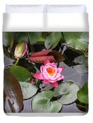 Flowering Water Lily Duvet Cover