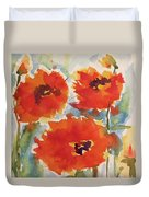 Poppies Wanted Duvet Cover