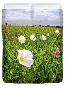 Flowers And Landscapes Along Texas Highway Roadside In Spring Duvet Cover
