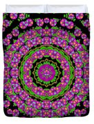 Flowers And More Floral Dancing A Power Peace Dance Duvet Cover