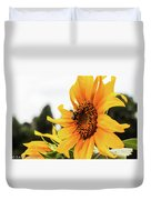 Flowers And The Bees Duvet Cover