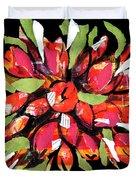 Flowers, Art Collage Duvet Cover