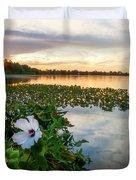 Flowers At Sunset Duvet Cover